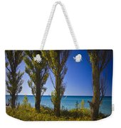 Row Of Cypress Trees At Point Betsie In Michigan No.0924 Weekender Tote Bag