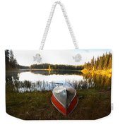 Rowboats At Jade Lake In Northern Saskatchewan Weekender Tote Bag