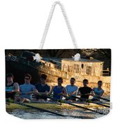 Rowers At Sunset Weekender Tote Bag