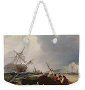 Rowing Boat Going To The Aid Of A Man-o'-war In A Storm Weekender Tote Bag