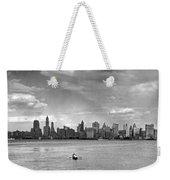Rowing To Manhattan Weekender Tote Bag