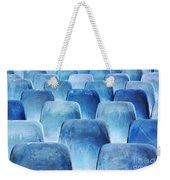 Rows Of Blue Chairs Weekender Tote Bag by Carlos Caetano