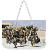 Royal Marines Haul Their Equipment Weekender Tote Bag