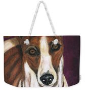 Royalty - Greyhound Painting Weekender Tote Bag by Michelle Wrighton