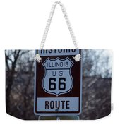Rt 66 Il Turn Out Signage Weekender Tote Bag