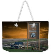 Rt 66 Towanda Signage Weekender Tote Bag