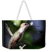 Ruby-throated Hummingbird - Just Beautiful Weekender Tote Bag