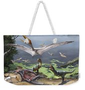 Rugops Primus Dinosaurs And Alanqa Weekender Tote Bag