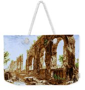 Ruins Of Roman Aqueduct, 18th Century Weekender Tote Bag