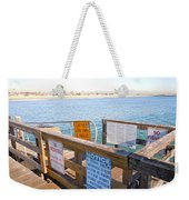 Rules Of The Pier  Weekender Tote Bag