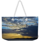 Running Out At Sunset Weekender Tote Bag
