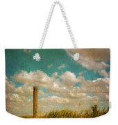 Rural Barbed Wire Fence Weekender Tote Bag