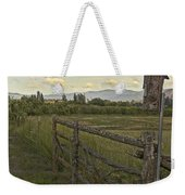 Rural Birdhouse On Fence Weekender Tote Bag