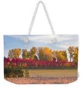 Rural Country Autumn Scenic View Weekender Tote Bag