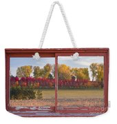 Rural Country Autumn Scenic Window View Weekender Tote Bag