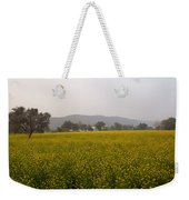 Rural Landscape With A Field Of Mustard Weekender Tote Bag