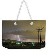 Rural Lightning Striking Weekender Tote Bag