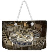 Rural Table Setting For Four No.3121 Weekender Tote Bag