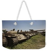 Russian T-62 Main Battle Tanks Rest Weekender Tote Bag
