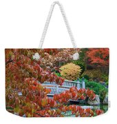 Rust Colored Leaves Over Autumn Pond Weekender Tote Bag