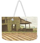 Rustic Barn And Field Rows Weekender Tote Bag