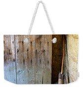 Rustic Door And Broom Weekender Tote Bag