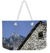 Rustic House And Mountain Weekender Tote Bag