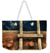 Rustic Ladder On Adobe House Weekender Tote Bag