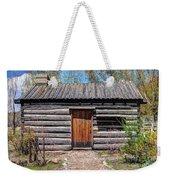 Rustic Pioneer Log Cabin - Salt Lake City Weekender Tote Bag