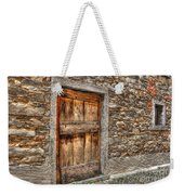 Rustic Stone House With Old Weekender Tote Bag