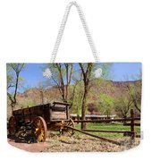 Rustic Wagon At Historic Lonely Dell Ranch - Arizona Weekender Tote Bag