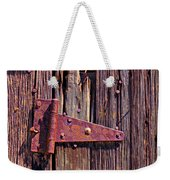 Rusty Barn Door Hinge  Weekender Tote Bag