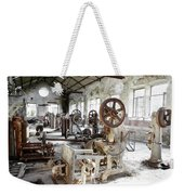 Rusty Machinery Weekender Tote Bag by Carlos Caetano
