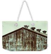 Rusty Tin Factory Building Weekender Tote Bag