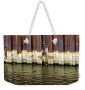 Rusty Wall By The River Weekender Tote Bag