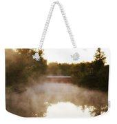 Sachs Covered Bridge In The Mist Weekender Tote Bag