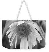Sad Sunflower Black And White Weekender Tote Bag