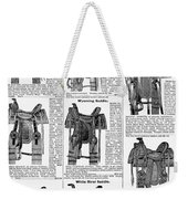 Saddles, 1895 Weekender Tote Bag