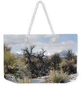 Sagebrush And Snow Weekender Tote Bag