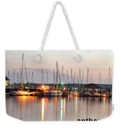 Sail Boat On The River Weekender Tote Bag