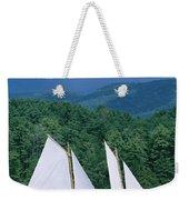 Sailboats And Darkening Sky, Lake Weekender Tote Bag