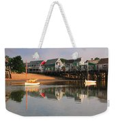 Sailboats And Harbor Waterfront Reflections Weekender Tote Bag