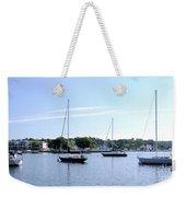 Sailboats In Bay Weekender Tote Bag
