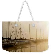 Sailboats In Golden Fog Weekender Tote Bag