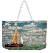 Sailboats In The Netherlands By The Zuiderzee Weekender Tote Bag