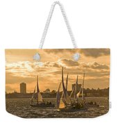 Sailboats On Lake Ontario At Sunset Weekender Tote Bag