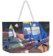 Sailboats South Of France Weekender Tote Bag