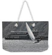 Sailing Boat And Passenger Boat Weekender Tote Bag