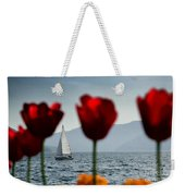 Sailing Boat And Tulip Weekender Tote Bag