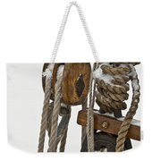 Sailing Boat Detail With Snow Weekender Tote Bag